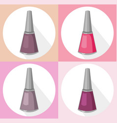 Nail polish set collection vector