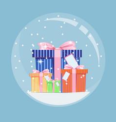 New years gift vector