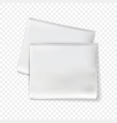 newspaper mockup blank sheets tabloid vector image