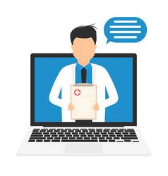online medicine concept digital medical vector image