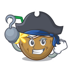 Pirate cocktail coconut character cartoon vector