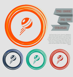 pokeball icon on the red blue green orange vector image