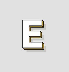 pop art logo letter e vector image