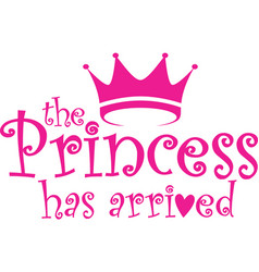 princess has arrived label vector image