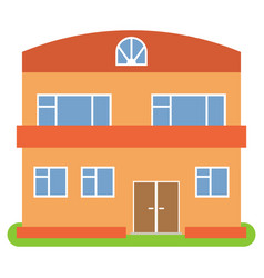 private house with a orange roof and walls vector image