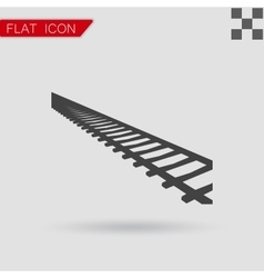 Rail Road icon Flat Style vector