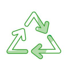 Recycle arrows symbol vector