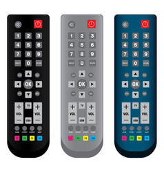 remote control in colorful isolated on white vector image