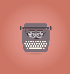 Retro style typewriter flat icon vector