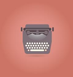 retro style typewriter flat icon vector image