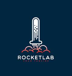 rocket lab logo vector image