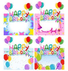 set birthday frame vector image