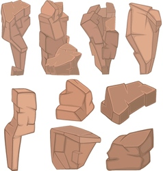 Set of Stones Rock elements for your Design vector