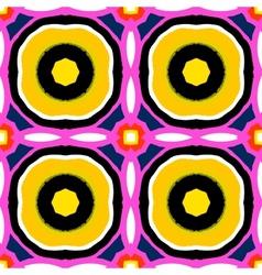 Suzani multicolor ethnic pattern vector image