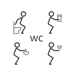 Toilet situation icon vector image