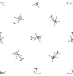 Top view helicopter pattern seamless vector