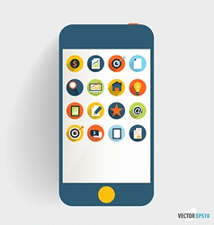 Touchscreen device with application icon Business vector