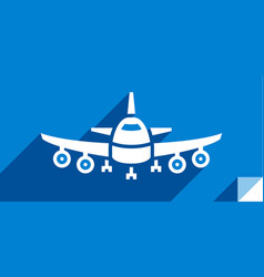transport in the sky vector image