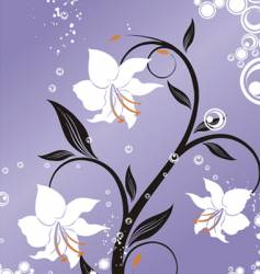 Tropical lily vector