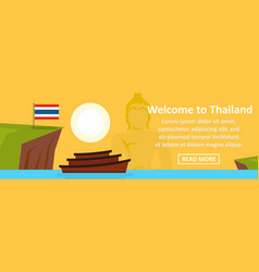 welcome to thailand banner horizontal concept vector image