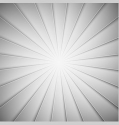 white rays in paper style background vector image