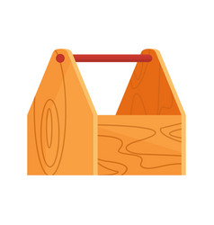 wooden empty toolbox icon vector image