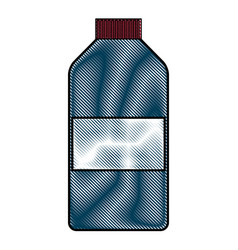 Drawing bottle medicine pharmacy image vector