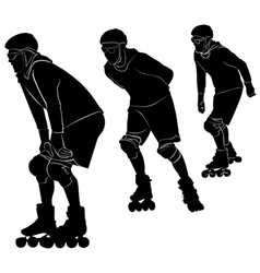 roller skating vector image vector image