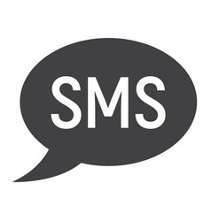 sms glyph icon web and mobile message sign vector image vector image