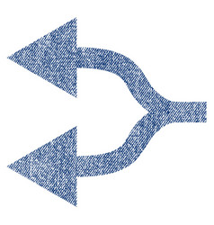 split arrows left fabric textured icon vector image vector image