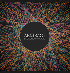 abstract colorful random thin lines background vector image