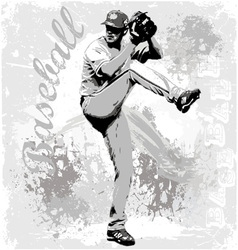 baseball pitcher vector image vector image