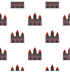 Castle tower pattern seamless vector