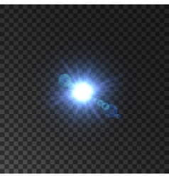 Lens flare effect of shining star light vector image vector image