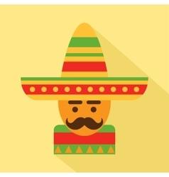 Mexican man in sombrero vector image