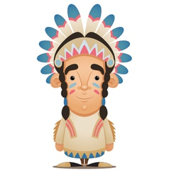 native american character vector image vector image