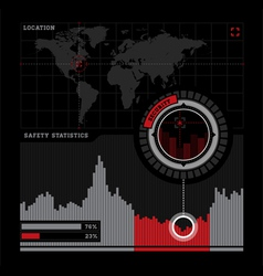 Security radar and infographics vector image