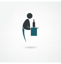 waiter icon vector image