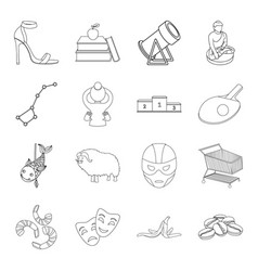 Education space sport and other web icon in vector