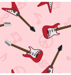 guitar seamless 5 vector image