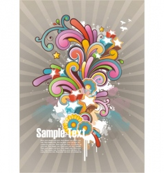 funky graphic design vector image