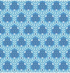 Hexagonsabstract geometric seamless pattern vector image vector image