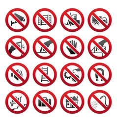 industrial prohibited symbols vector image vector image