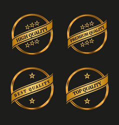 premium and high quality labels set vector image
