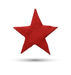 Red star on white background vector image vector image