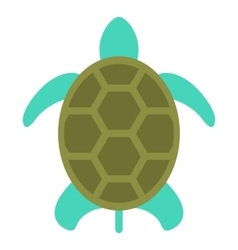 turtle icon isolated on white flat style vector image vector image