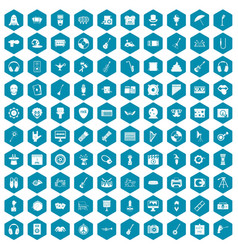 100 show business icons sapphirine violet vector