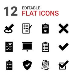 12 checkmark icons vector