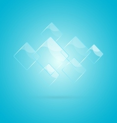 Abstract background with glossy elements vector image