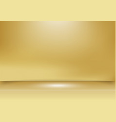 abstract golden gold studio background vector image